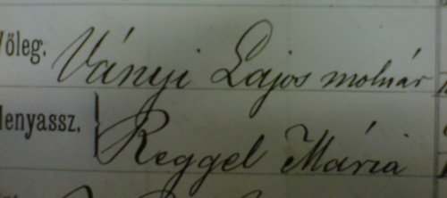 File:Lajos Ványi and Mária Reggel, marriage record.jpg